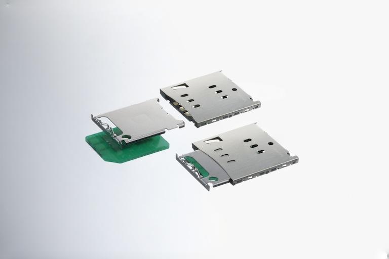 カードトレイタイプmicro-SIMカードソケット
