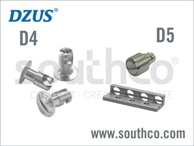 サウスコD4標準およびD5 Panel DZUSR クオーターターンファスナ