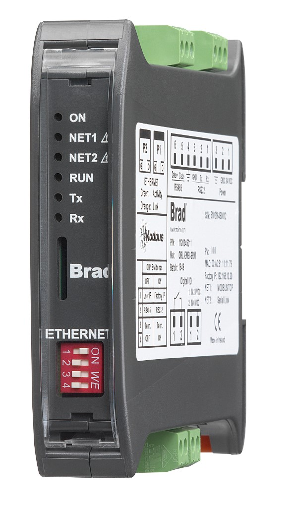 EtherNetIP-Modbusシリアルゲートウェイを発表