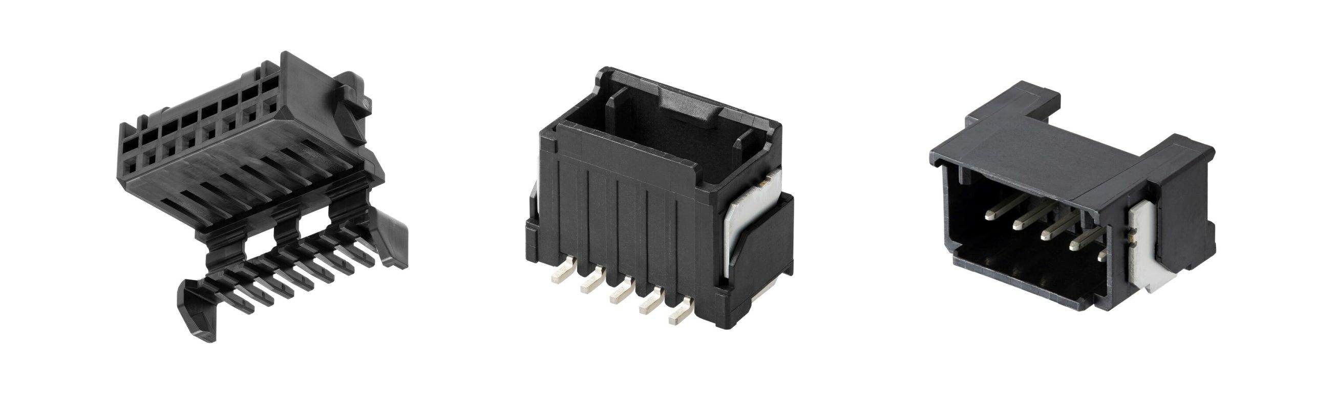 一体型のハーネスロック機構を備えたMicro-One電線対基板用コネクターを発表
