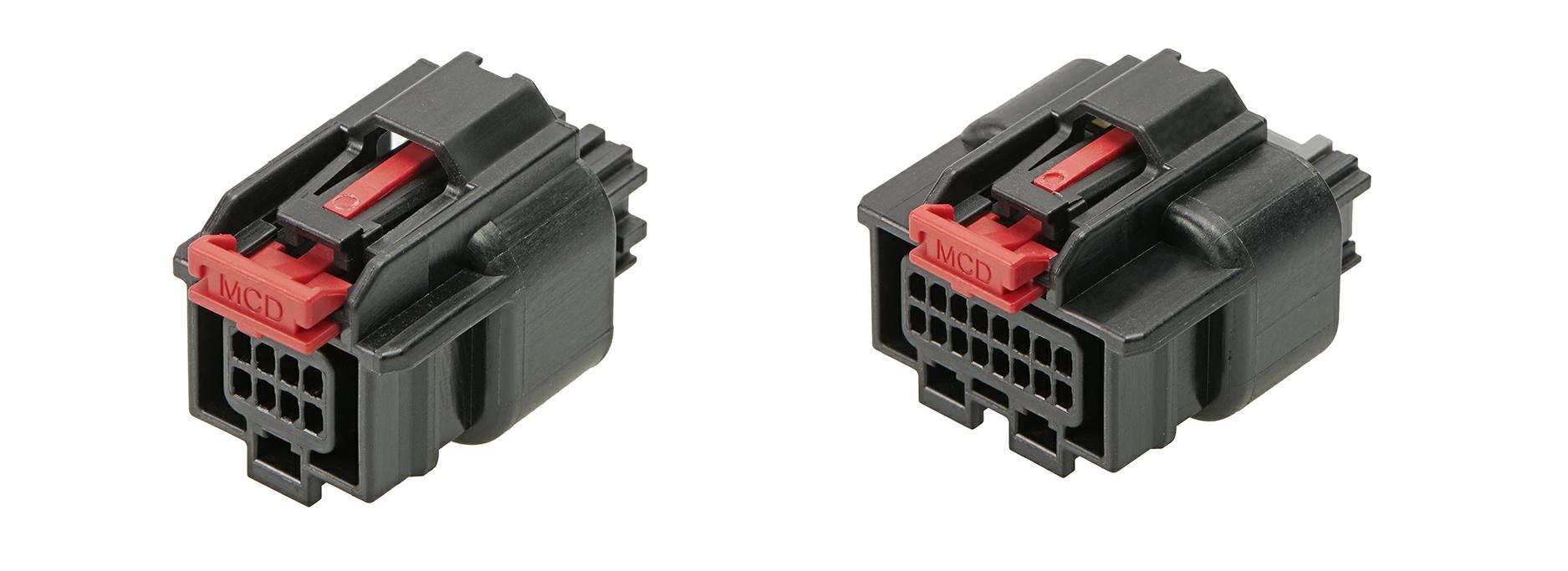 車載機器向けMini50防水コネクターに2列リセプタクルを追加
