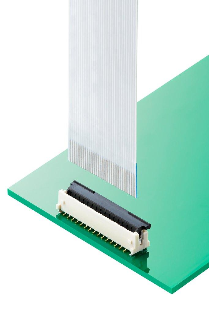 省スペース設計Easy-On FFC-FPC用V-Flipコネクターの極数展開を大幅拡充_Mating